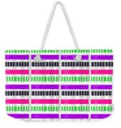 Stripe And Check Weekender Tote Bag