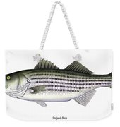 Striped Bass Weekender Tote Bag by Charles Harden