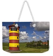 Striped Lighthouse Weekender Tote Bag