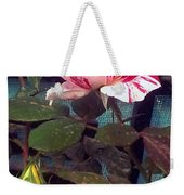 Striped Rose And Yellow 2 Weekender Tote Bag