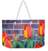 Striped Tulips Weekender Tote Bag