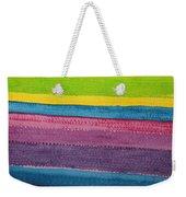 Stripes Original Painting Weekender Tote Bag
