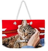 Stroking A Cat Weekender Tote Bag by Tom Gowanlock