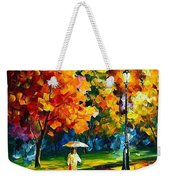 Stroll In The Night - Palette Knife Oil Painting On Canvas By Leonid Afremov Weekender Tote Bag