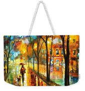 Stroll With My Best Friend - Palette Knife Oil Painting On Canvas By Leonid Afremov Weekender Tote Bag
