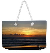 Strolling The Beach During Sunset Weekender Tote Bag