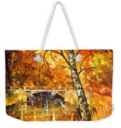 Strong Birch - Palette Knife Oil Painting On Canvas By Leonid Afremov Weekender Tote Bag