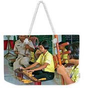 Students Playing Traditional Thai Instruments In Music Class At  Baan Konn Soong School In Sukhothai Weekender Tote Bag