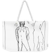 Study For Harlequin And Nude Weekender Tote Bag