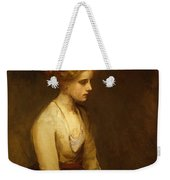 Study Of A Fair Haired Beauty  Weekender Tote Bag by Jean Jacques Henner