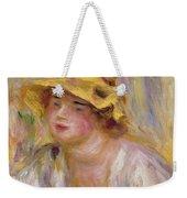 Study Of A Girl, C.1918-19 Weekender Tote Bag