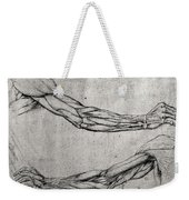 Study Of Arms Weekender Tote Bag by Leonardo Da Vinci