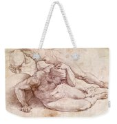 Study Of Three Male Figures Weekender Tote Bag