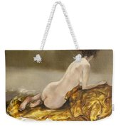 Study Over A Silk Drapery Weekender Tote Bag