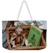 Stuffed Rabbit And Uncle Wiggly Book Weekender Tote Bag