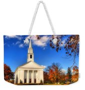 Sturbridge Church In Autumn Weekender Tote Bag