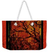 Stylized Cherry Tree With Old Textures And Border Weekender Tote Bag
