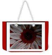 Stylized Daisy With Red Border Weekender Tote Bag