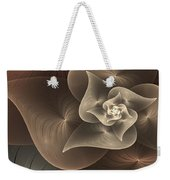 Stylized Philodendron Sepia Weekender Tote Bag