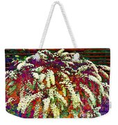 Stylized Spirea - Flowering Plant - Gardener Weekender Tote Bag