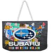 Subaru License Plate Map Sales Celebration Limited Edition 2013 Art Weekender Tote Bag