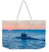 Submarine Sunset Weekender Tote Bag