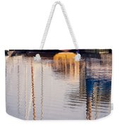 Subtle Colored Marina Reflections Weekender Tote Bag