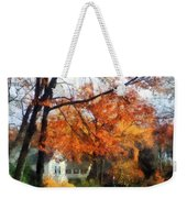 Suburban Street In Autumn Weekender Tote Bag