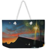 Suburban Sunset Oil On Canvas Weekender Tote Bag