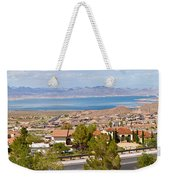 Suburbs And Lake Mead With Surrounding Weekender Tote Bag