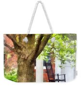 Suburbs - Rocking Chair On Porch Weekender Tote Bag