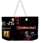 Subway Inn Bar - Vanishing Places Of New York Weekender Tote Bag