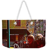 Subway - Late Afternoon Rush On A Cold Day Weekender Tote Bag