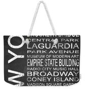 Subway New York 3 Weekender Tote Bag