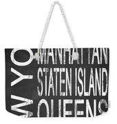 Subway New York 4 Weekender Tote Bag
