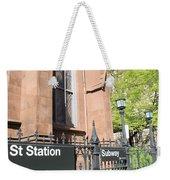 Subway Station In Brooklyn Weekender Tote Bag