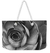 Succulent In Black And White Weekender Tote Bag