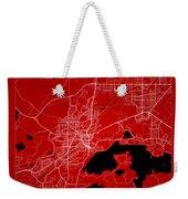 Sudbury Street Map - Sudbury Canada Road Map Art On Color Weekender Tote Bag