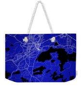 Sudbury Street Map - Sudbury Canada Road Map Art On Colored Back Weekender Tote Bag
