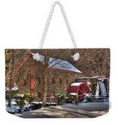 Sudbury Wintery Grist Mill Weekender Tote Bag