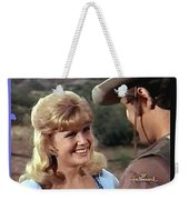 Sue Green Mark Slade The High Chaparral 1966 Pilot Screen Capture Collage 1966-2012 Weekender Tote Bag