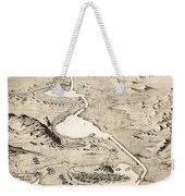 Suez Canal Weekender Tote Bag