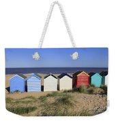 Suffolk Beach Huts Weekender Tote Bag