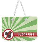 Sugar Free Banner Weekender Tote Bag