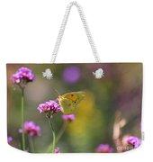Sulphur Butterfly On Verbena Flower Weekender Tote Bag