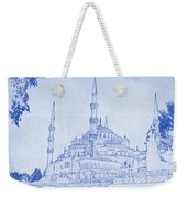 Sultan Ahmed Mosque Istanbul Blueprint Weekender Tote Bag