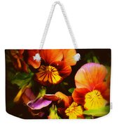 Sultry Nights - Flower Photography Weekender Tote Bag