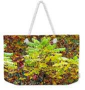 Sumac Leaves In The Fall Weekender Tote Bag