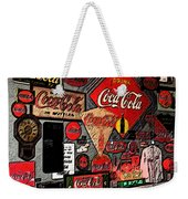 Sumi-e Styled Coca Cola Signs Weekender Tote Bag
