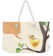 Summer Bird Weekender Tote Bag